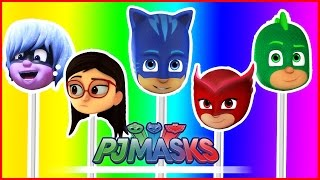 PJ Masks Lollipop Finger Family PJ Masks Catboy Owlette Gekko Amaya Luna Girl Nursery Rhymes