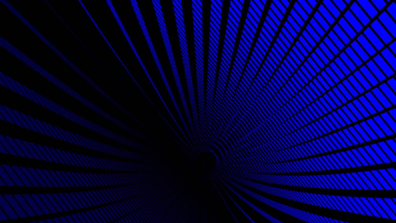 Blue Square Tunnel Creation Black Background ANIMATION