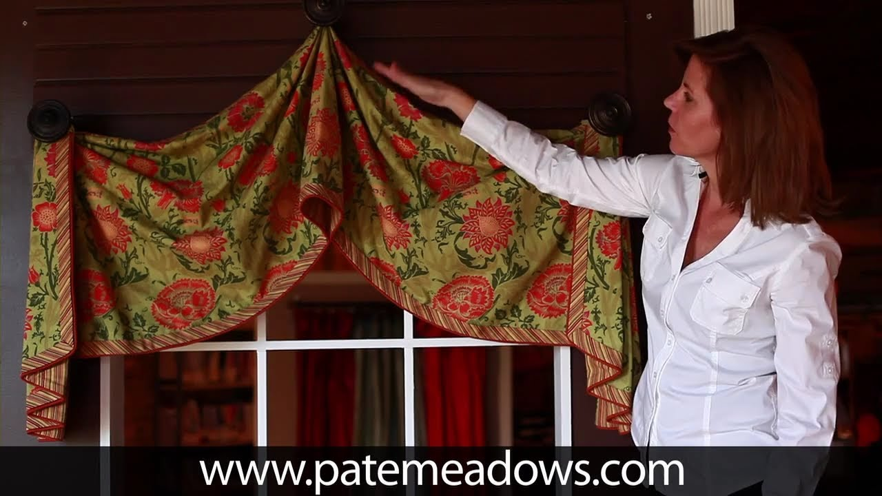 Pull Up Valance Sewing Pattern Youtube