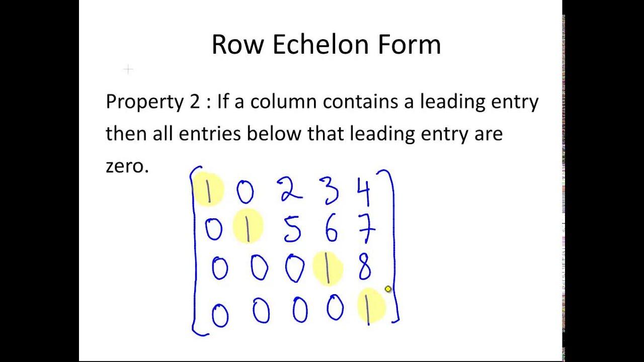 echelon form of a matrix - nomadconvoy.co
