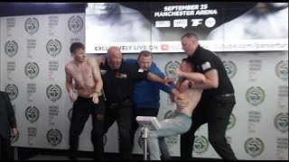 intense beef peter mcdonagh v shayne singleton clash as pair get into it during weigh in