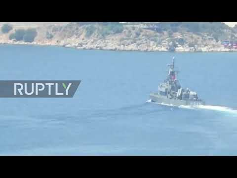 Turkey: Turkish navy ships seen close to Greek island as mar