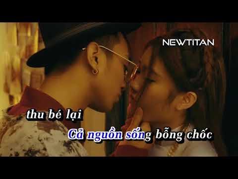 Karaoke Phía sau một cô gái   Soobin Hoàng Sơn