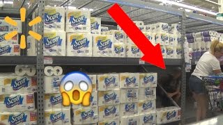 INSANE TOILET PAPER FORT IN WALMART! (Kicked Out)