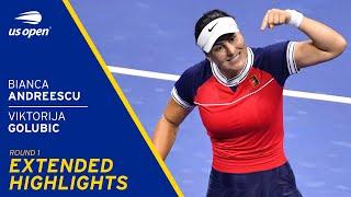 Bianca Andreescu vs Viktorija Golubic Extended Highlights | 2021 US Open Round 1