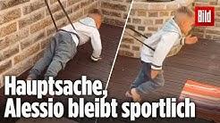 Alessio Lombardi macht ein Workout (mit seinen vier Jahren)