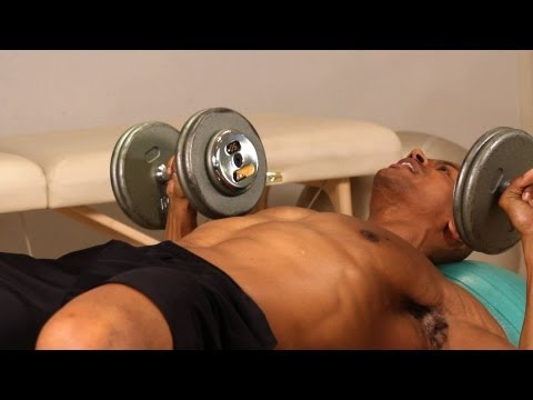 How to Do Exercise Ball Dumbbell Press | Chest Workout