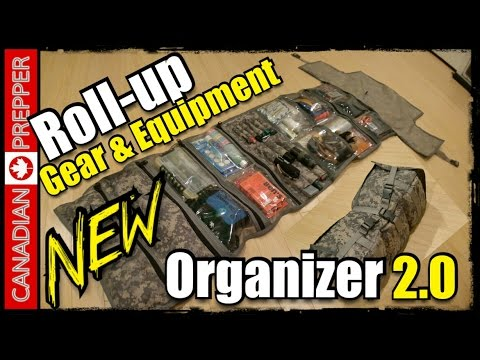 NEW! Survival Roll/ Gear Organizer | Canadian Prepper