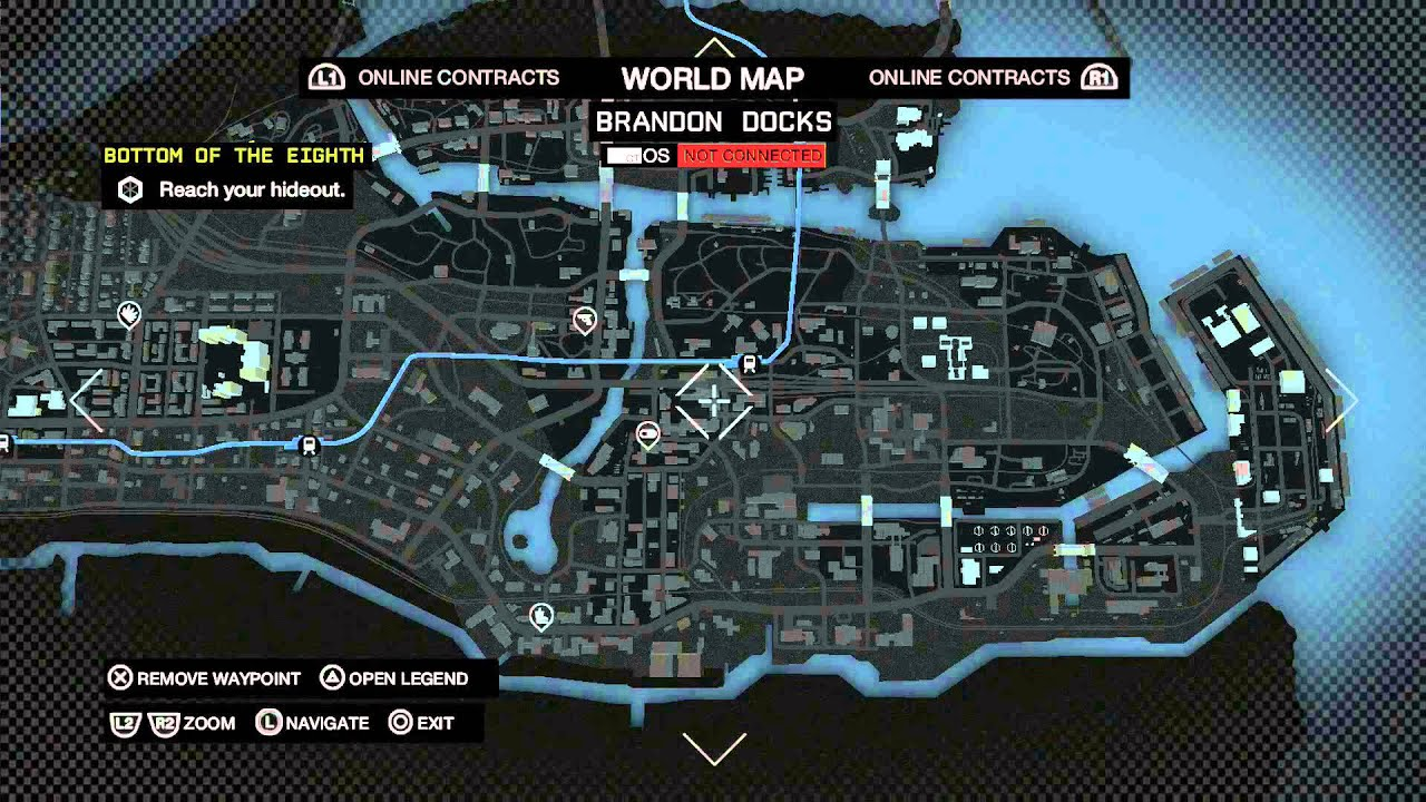 How To Get To World Map In Watch Dogs