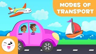 Means Of Transport For Children - Land, water and air transport for kids