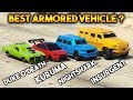 GTA 5 ONLINE : KURUMA VS INSURGENT VS NIGHTSHARK VS DUKE O'DEATH  (WHICH IS BEST ARMORED VEHICLE ?)