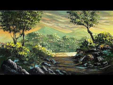 How To Paint A Realistic Landscape Painting | Acrylic Painting Tutorial By Nepali Artist