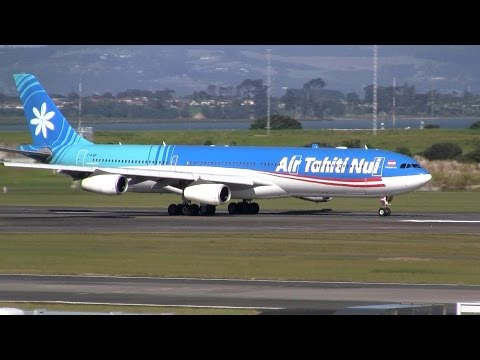 Air Tahiti Nui ► Airbus A340-300 ► Takeoff ✈ Auckland Airport