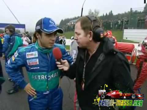 Felipe Massa interview on the grid in Belgium, 2005