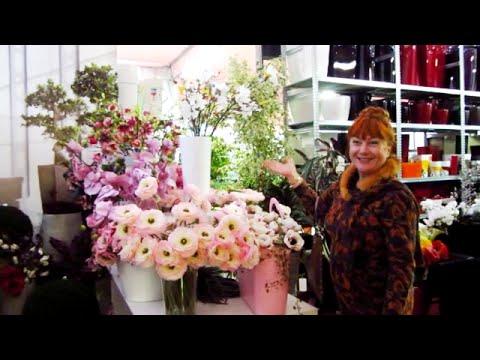 Искусственные цветы в ассортименте компании Элитупак! - YouTube