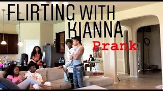 FLIRTING WITH KIANNA JAY PRANK!!! (WOAH CALM DOWN PRIMETIME )