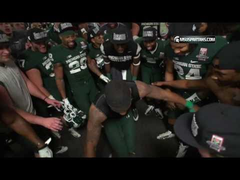 MSU Football Rose Bowl Post Game Locker Room Celebration
