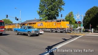 Urban Railfanning: Union Pacific C45H Heavy #8104 leading QPDRV - Salem, Oregon 8.5.13