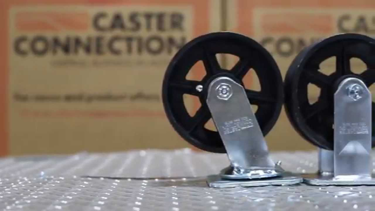 Cast iron v groove caster wheels your caster connection youtube cast iron v groove caster wheels your caster connection publicscrutiny Gallery