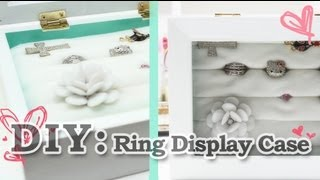 Diy: Ring Display Case
