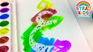 Invisible Arabic Alphabet Letters | Crayola Watercolor Painting | Play & Learn | SYRAJ Kids