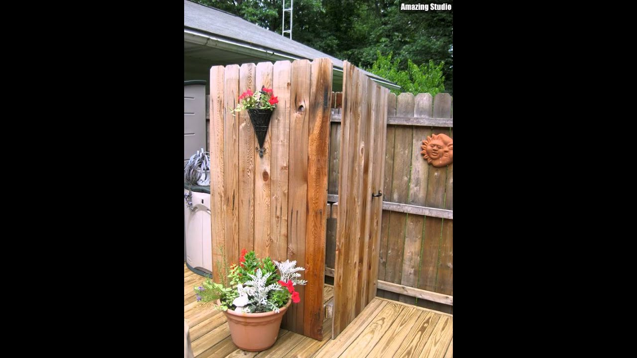 Diy deck outdoor shower ideas youtube for Diy outdoor shower surfboard