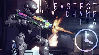 Halo 5 - Fastest Champ FFA Game Ever?