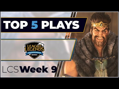 Top 5 Plays LCS Week 9 - Spring Split 2019