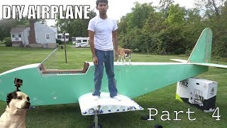 DIY Electric Ultralight pt4 (fiberglassing fuselage and wing construction)