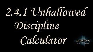 2 4 2 diablo 3 unhallowed essence discipline calculator demon hunter guide