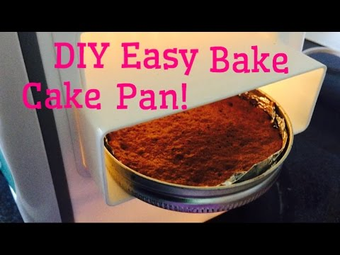 Diy Easy Bake Oven Cake Pan And Results Youtube