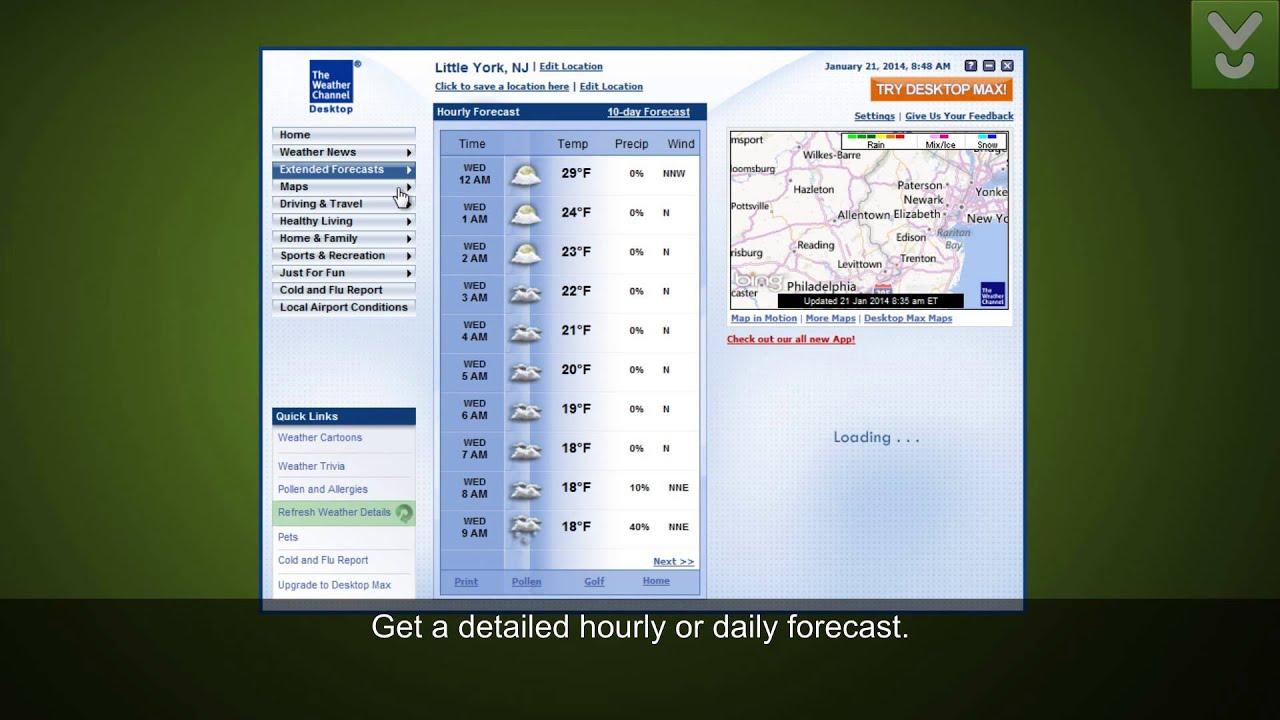 weather channel desktop weather