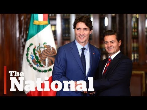 Trudeau arrives in Mexico for NAFTA talks after U.S. visit