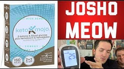 Keto Mojo Device In Action. Testing Ketones and Glucose.