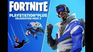 Fortnite Battle Royale PlayStation Plus Celebration Pack! Free Glider, Pickaxe, and Skydiving Trail!