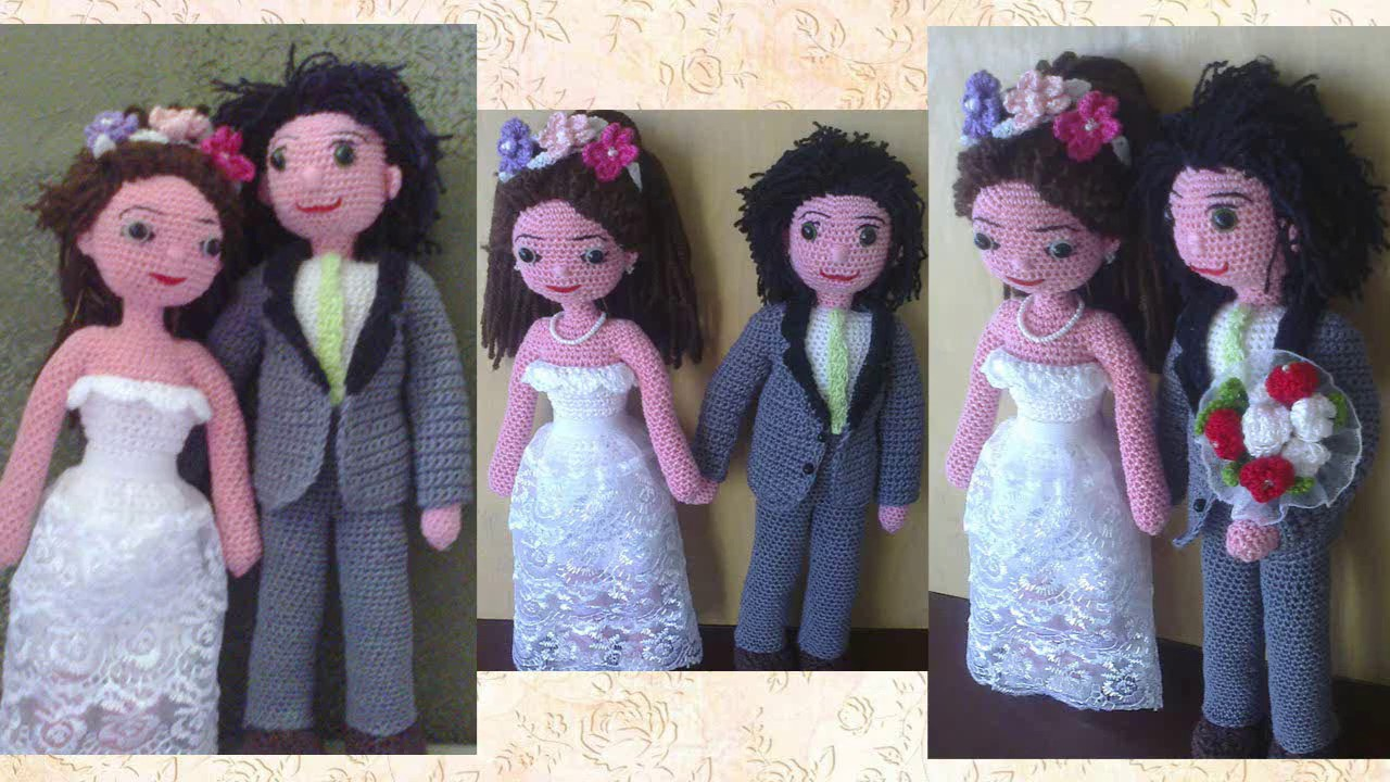 Как связать жениха и невесту крючком38
