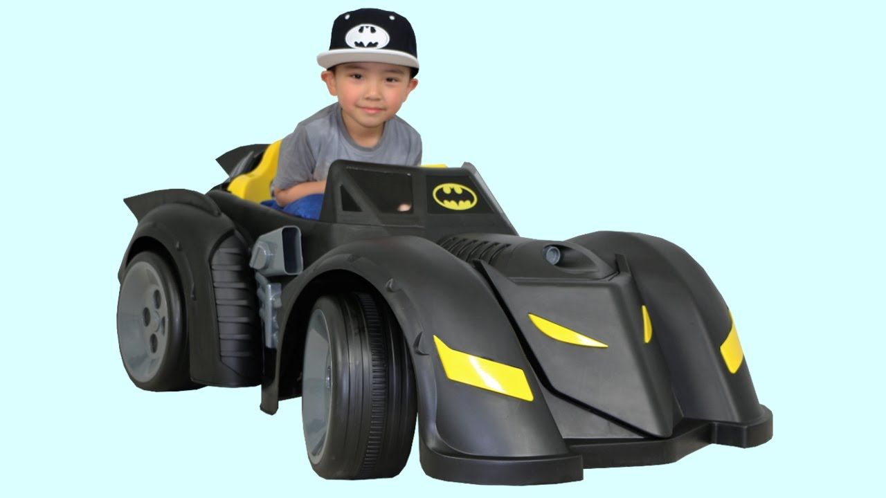 77a984ce466 New Batman Batmobile Battery-Powered Ride-On Car Power Wheels Unboxing Test  Drive With Ckn Toys - YouTube