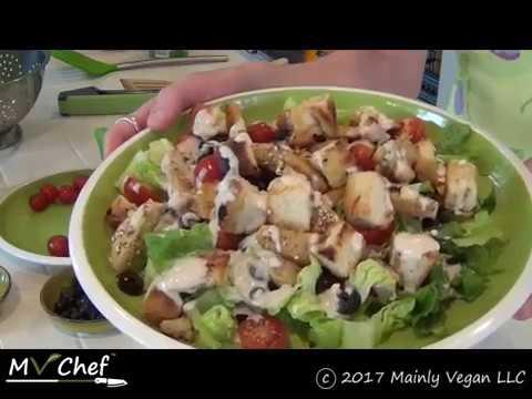 Mainly Vegan's Chicken Caesar Salad - MV Chef with Pamela Kurp