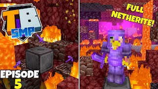 Truly Bedrock S2 Ep5! FULL NETHERITE ARMOR! 64+ Ancient Debris! Bedrock Edition Survival Let's Play!