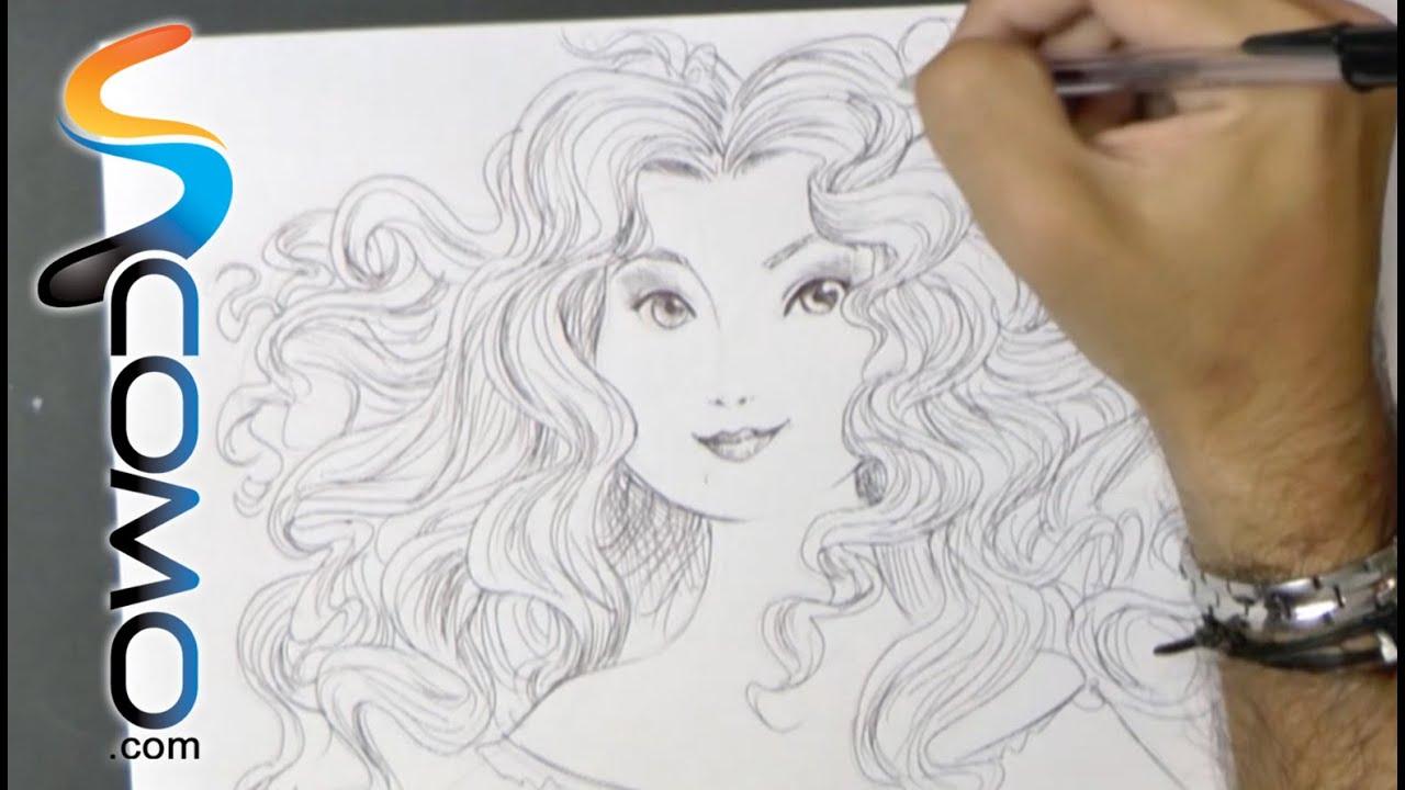 Dibujar la princesa Merida de Brave - YouTube