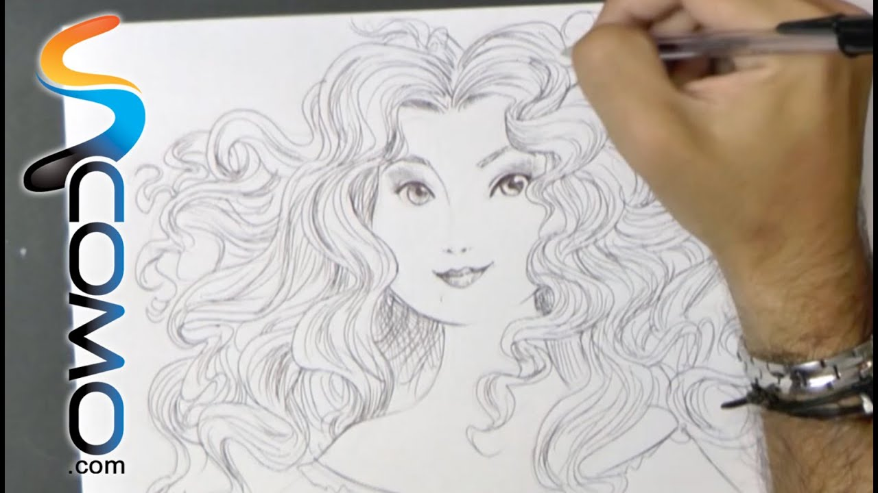 Merida Para Colorear: Dibujar La Princesa Merida De Brave