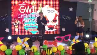 Tikoy Chiu and Lady Shane hosting GWI Christmas Party 2