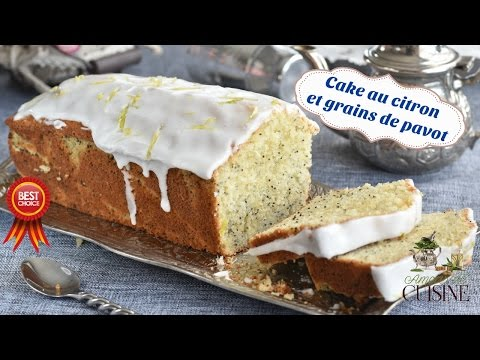 cake-au-citron-et-graines-de-pavot-et-son-glaçage-au-citron,-recette-pour-le-goûter