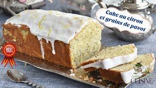 Repeat youtube video cake au citron et graines de pavot et son glaçage au citron, recette pour le goûter