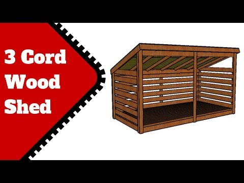 3 Cord Firewood Shed Plans Free