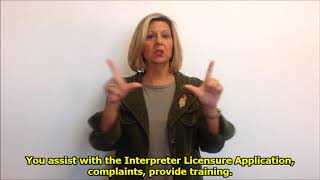 Executive Director Sherri Collins talks about our Licensure Certification job posting