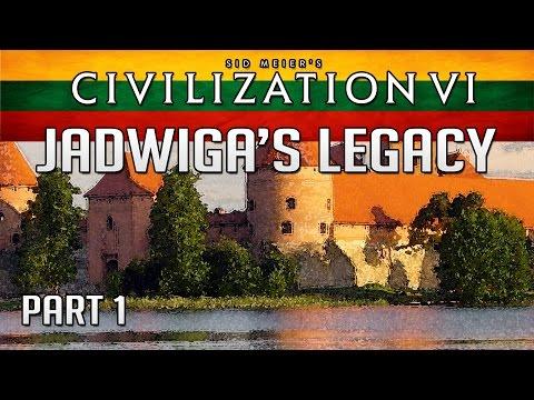 Let's Play Civilization 6: Jadwiga's Legacy Scenario (1440p) - Part 1: The Lithuanian Empire