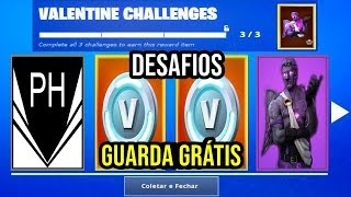 FORTNITE-HOW TO CATCH THE SKIN GUARD OF THE EVIL LOVE OF THE CHALLENGES VALENTINE'S DAY