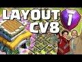 LAYOUT TOP para CV8 (FARM/PUSH) - Clash of Clans
