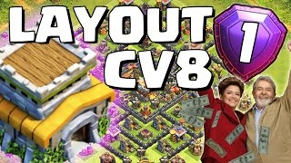 LAYOUT TOP para CV8 (FARM/PUSH) - Clash of Clans